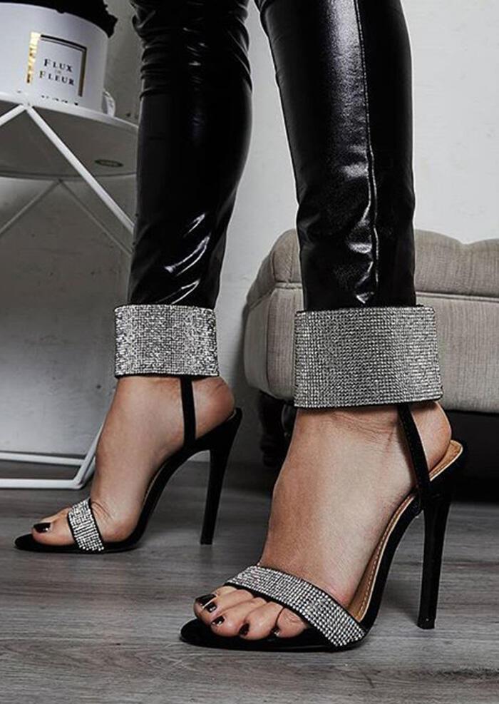 Summer Ankle Strap Heeled Sandals