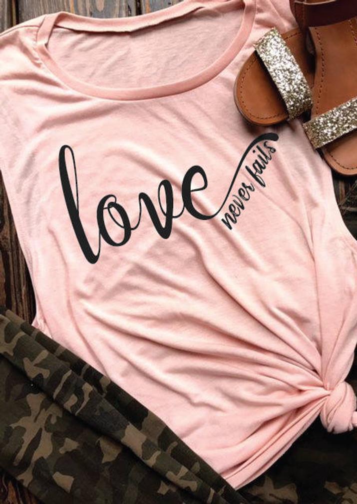 Love Never Fails Valentine Tank - Pink, 461259