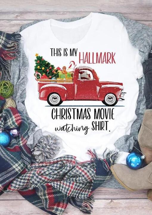 Hallmark Christmas Movie Watching Shirt T-Shirt Tee