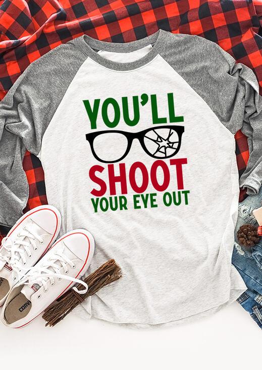 You'll Shoot Your Eye Out Baseball T-Shirt Tee