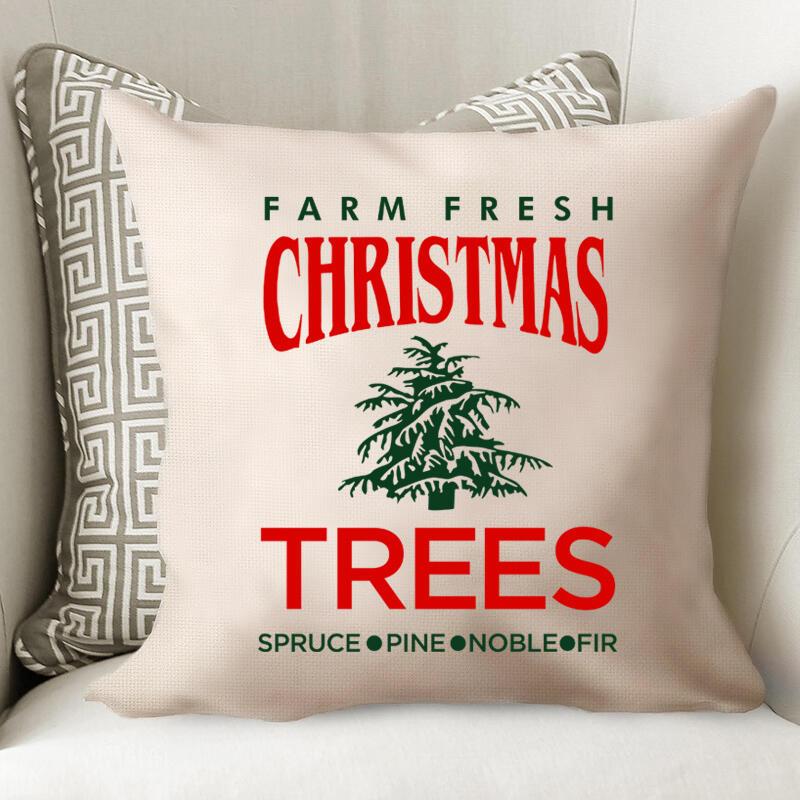 Farm Fresh Christmas Trees Pillowcase without Pillow