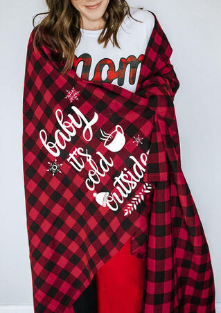 Plaid Baby It's Cold Outside Blanket