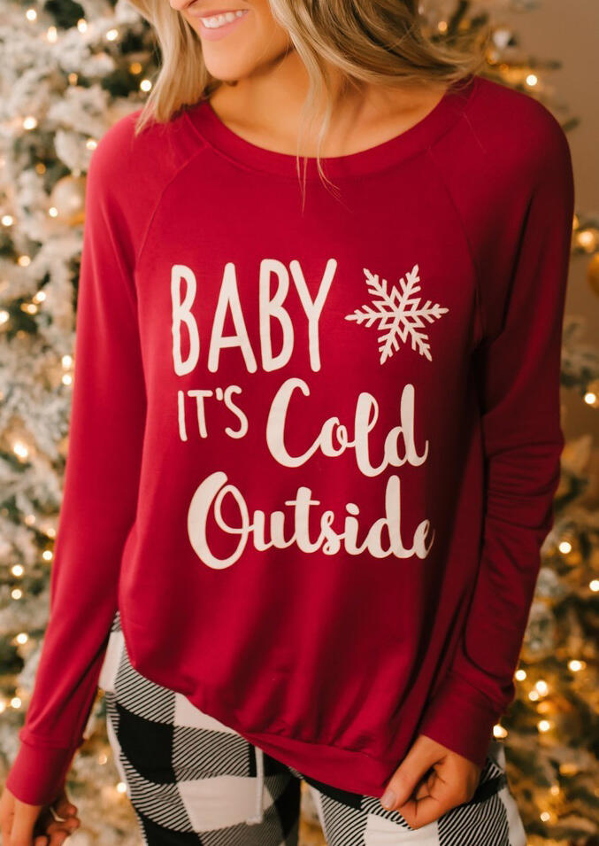 Baby It S Cold Outside Christmas Snowflake T Shirt Tee