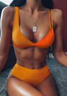 Color Block Bikini Set
