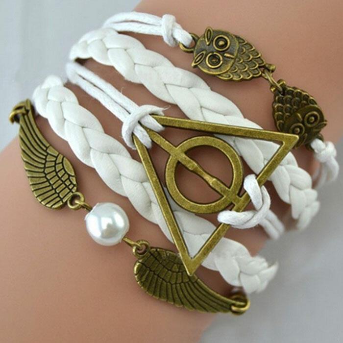 Owl Angel Wing Bead Weaven Bracelet