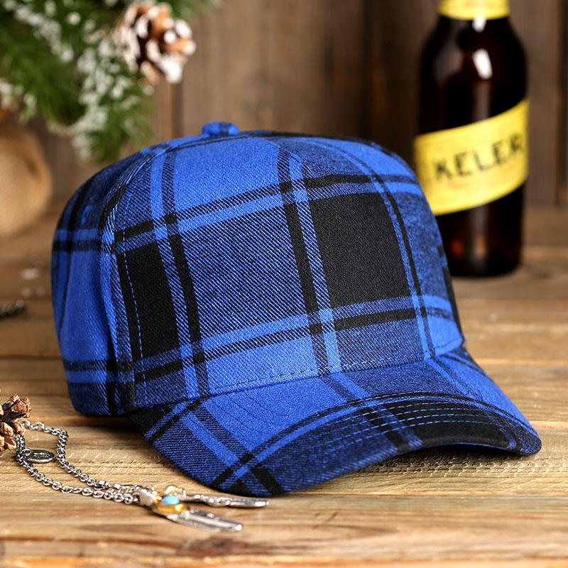 Hats Plaid Adjustable Buckle Strap Baseball Hat. Size: One Size фото