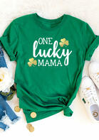 One Lucky Mama Shamrock T-Shirt