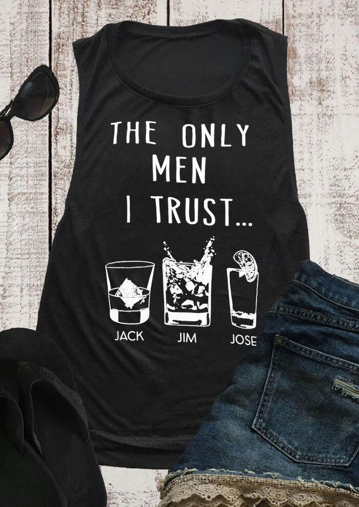 The Only Men I Trust Jack Jim Jose Tank Top - Black фото
