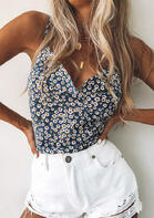 Floral Ruffled V-Neck Camisole
