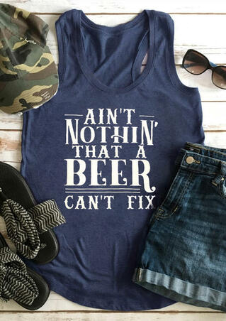 Ain't Nothin' That A Beer Can't Fix Tank - Navy Blue