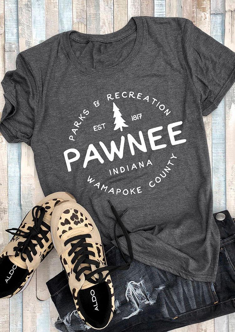 Parks & Recreation Wamapoke County T-Shirt Tee - Gray фото