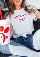 Summer Outfits Chick Fil A Diet T-Shirt Tee