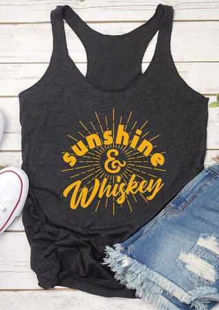 Sunshine & Whiskey Casual Tank - Gray