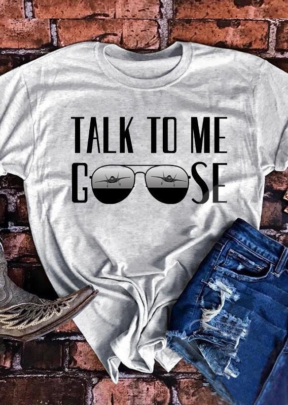 Take To Me Goose T-Shirt Tee - Light Grey фото