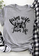 Summer Outfits Women Farm Wife Farm Life T-Shirt Tee
