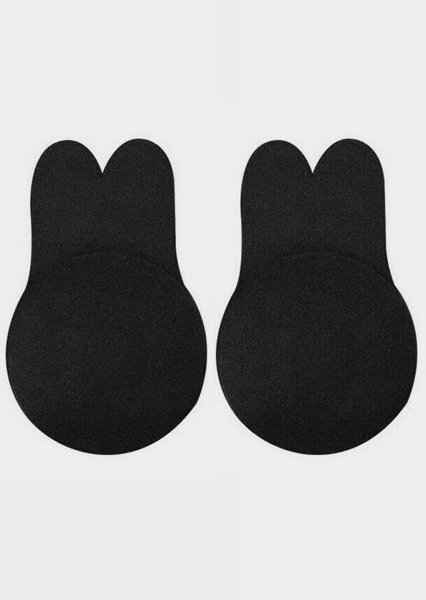 Solid Breast Lifting Adhesive Bra - Black фото
