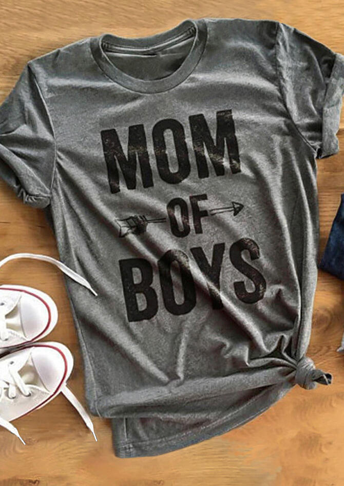 Mom of Boys Arrow T-Shirt