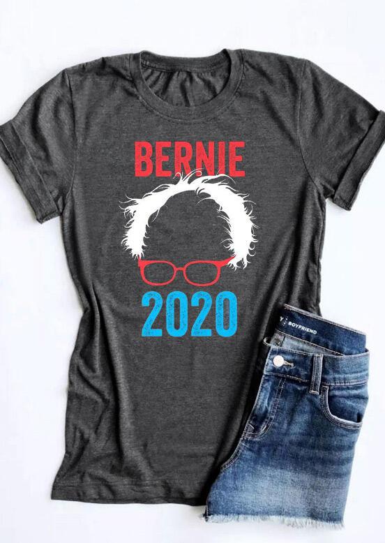 Tees T-shirts Bernie Sanders 2020 T-Shirt Tee in Dark Grey. Size: S,M фото