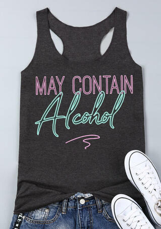 Presale - May Contain Alcohol Tank - Dark Grey