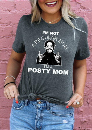 Presale - I'm A Posty Mom T-Shirt Tee without Necklace - Dark Grey