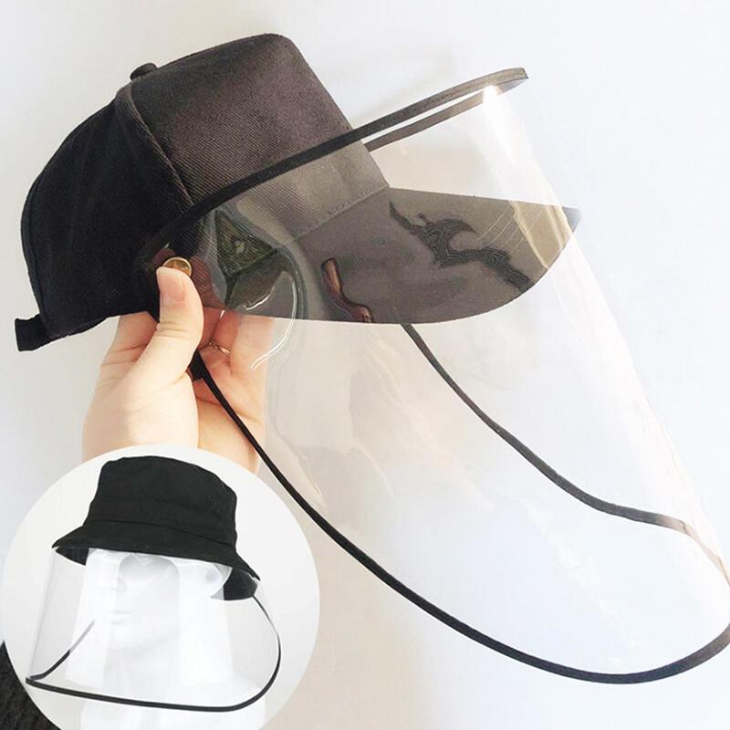Baseball Cap with Removable Flip-Up Visor Shield