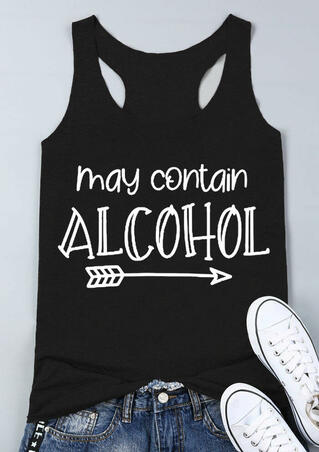 May Contain Alcohol Arrow Tank - Black