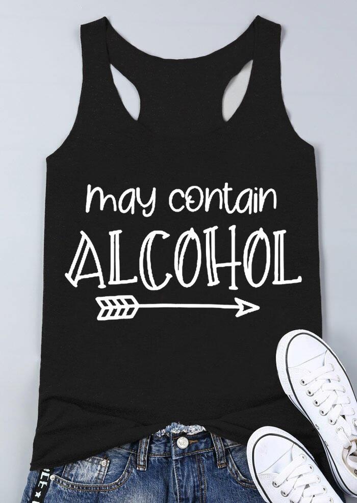 May Contain Alcohol Arrow Tank - Black фото
