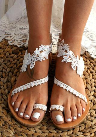 Summer Lace Slip-On Flat Sandals