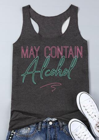 May Contain Alcohol Tank - Dark Grey