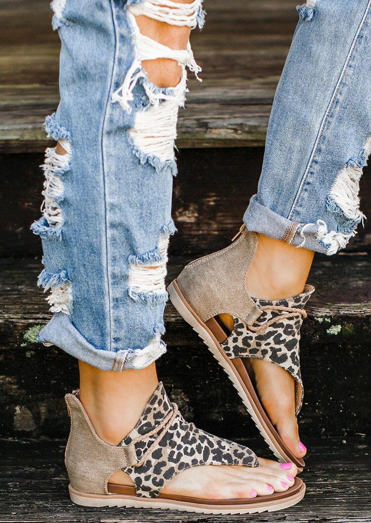 Women's Summer Leopard Printed Zipper