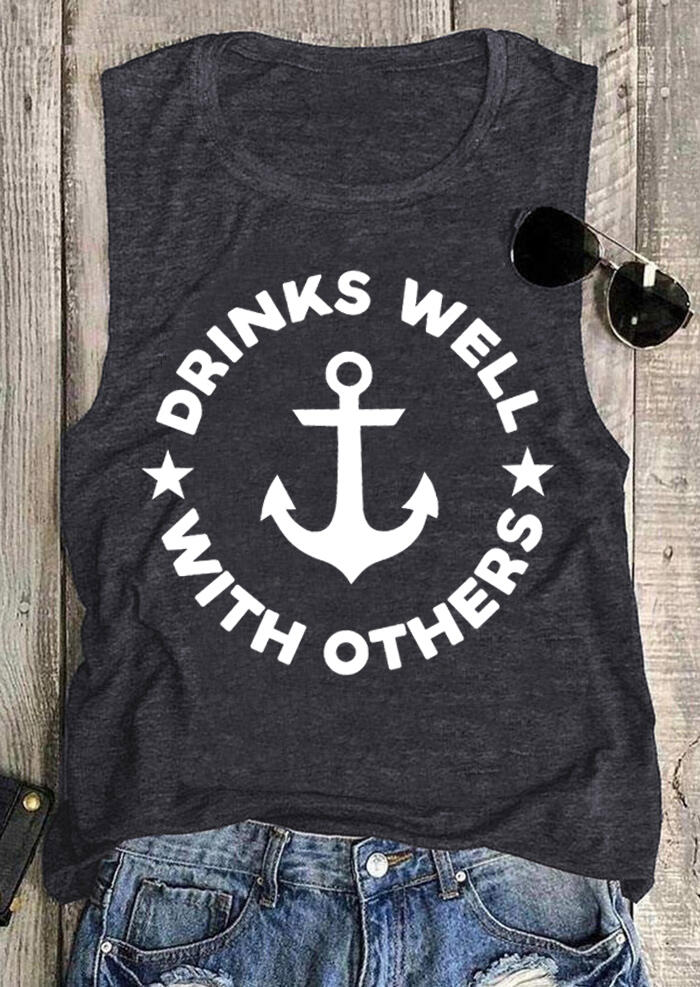 Drinks Well With Others Star Anchor Tank - Dark Grey фото