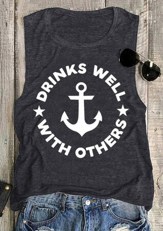 Drinks Well With Others Star Anchor Tank - Dark Grey