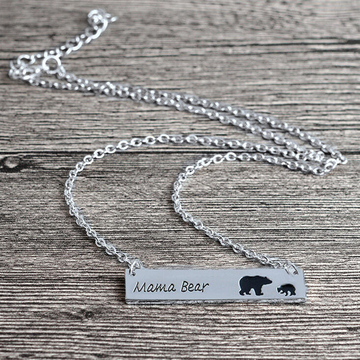 Mama Bear Pendant Alloy Necklace фото