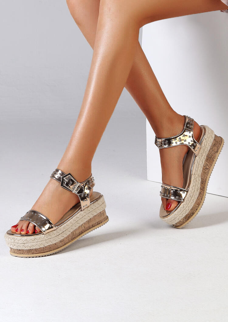 Ankle Strap Buckle Platform Sandals фото