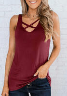 Summer Outfits Criss-Cross Casual Tank