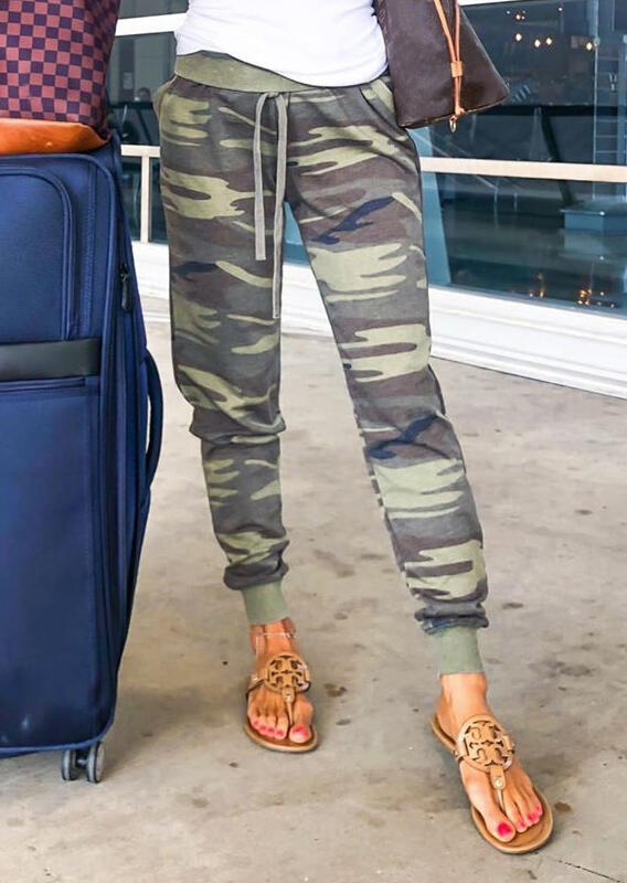 Pants Camouflage Printed Pocket Drawstring Pants in Camouflage. Size: S,M,L,XL фото