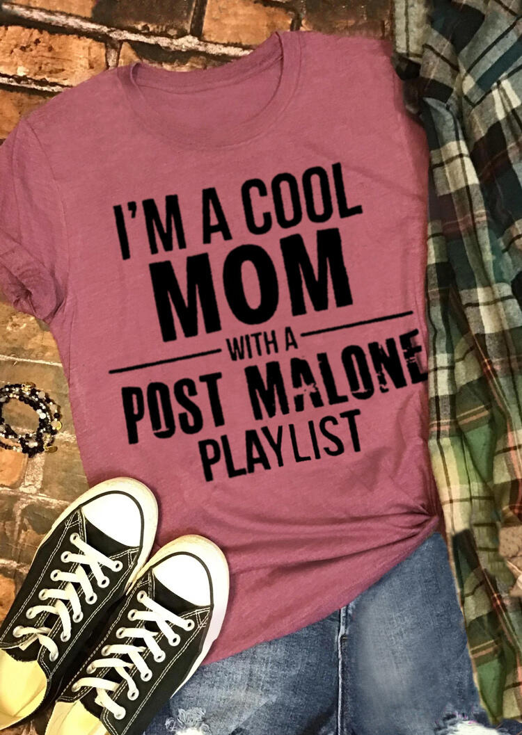 I'm A Cool Mom T-Shirt Tee - Brick Red фото