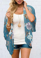 Casual Summer Outfits Floral Batwing Sleeve Cardigan