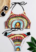Bohemian Geometric Tie Halter Bikini Set