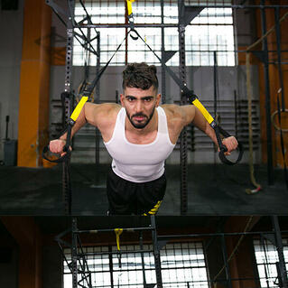 Resistance Trainer with Suspension Straps