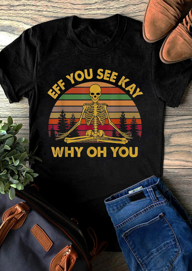Tees T-shirts Eff You See Kay T-Shirt Tee in Black. Size: S,M,L,XL фото