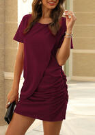 Ruffled Irregular Mini Dress