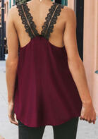 Summer Outfits Lace Open Back Irregular Camisole