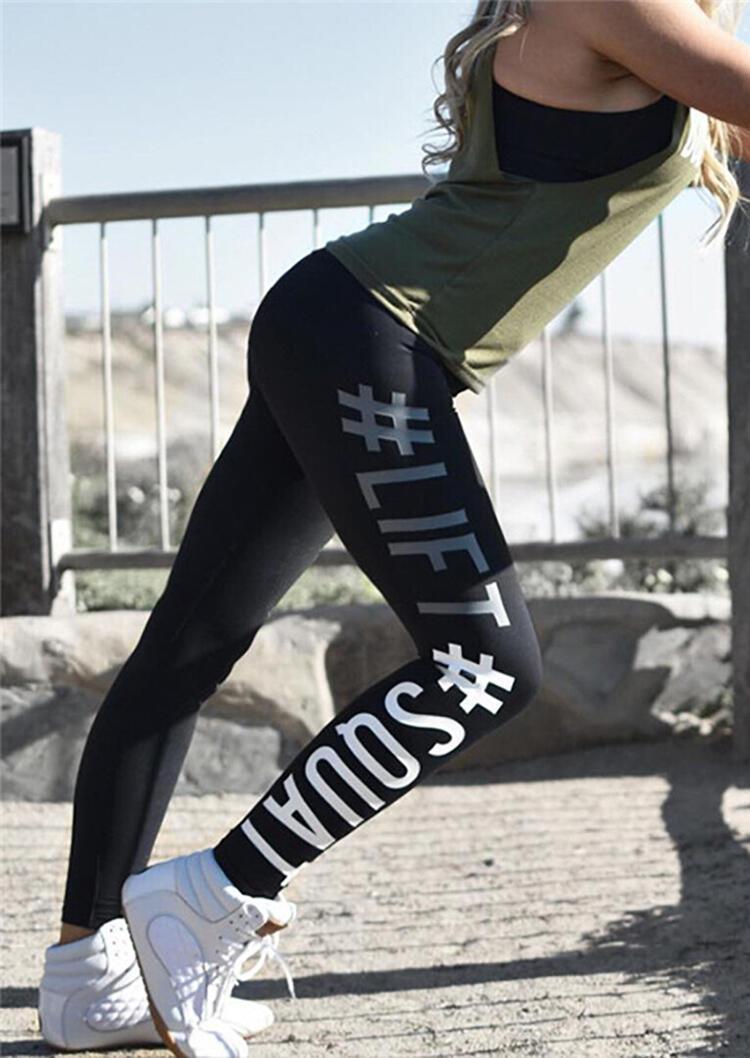 Activewear Lift Squat Yoga Fitness Activewear Leggings in Black. Size: S,M,XL фото