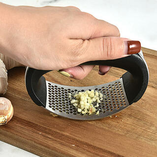 Stainless Steel Manual Garlic Press Squeezer