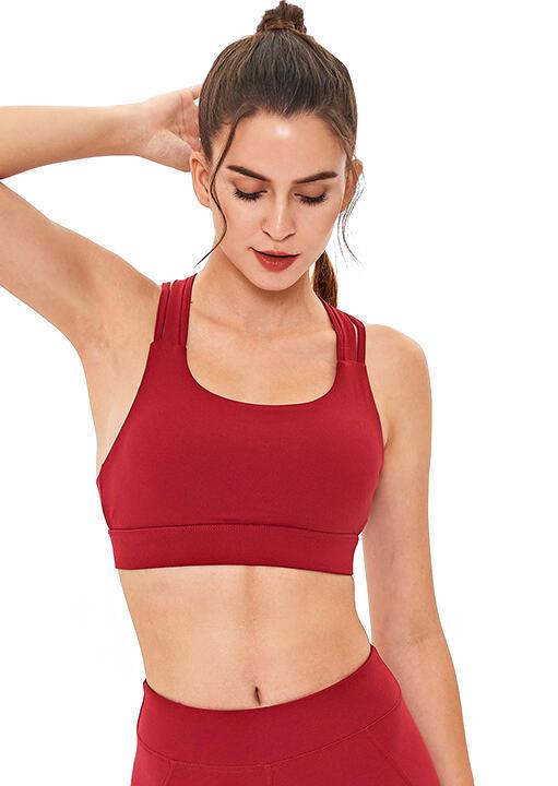 Criss-Cross Quick-Drying Breathable Yoga Sports Bra