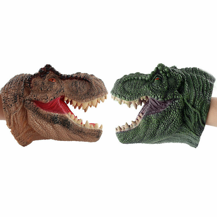Hobbies and Toys Realistic Soft Rubber Dinosaur Hand Puppet Toy фото