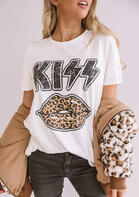 Leopard Kiss Lips T-Shirt