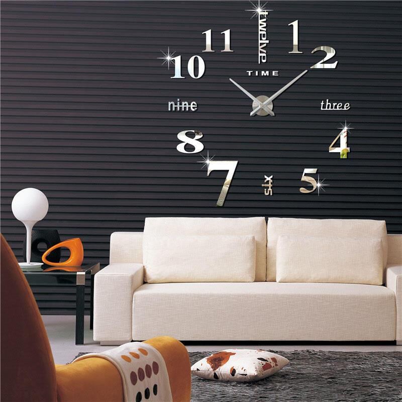 Home Decor DIY Creative Wall Clock Decor Stickers фото