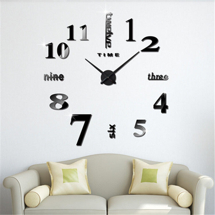 DIY Creative Wall Clock Decor Stickers